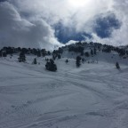 Some freeride at the top of LAbarsetar chairlift