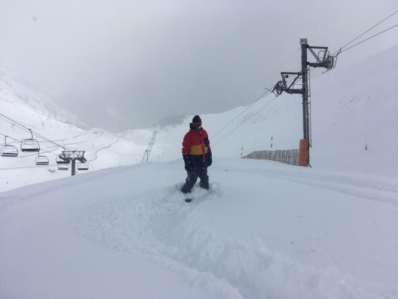 Over 20 cm of fresh snow at the top of Arinsal