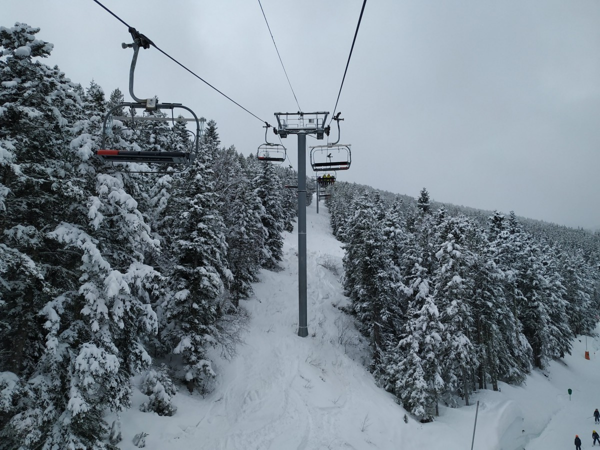 Heading up Cubil chairlift