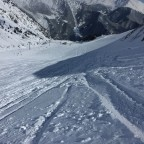 The quality of the snow was soft powder
