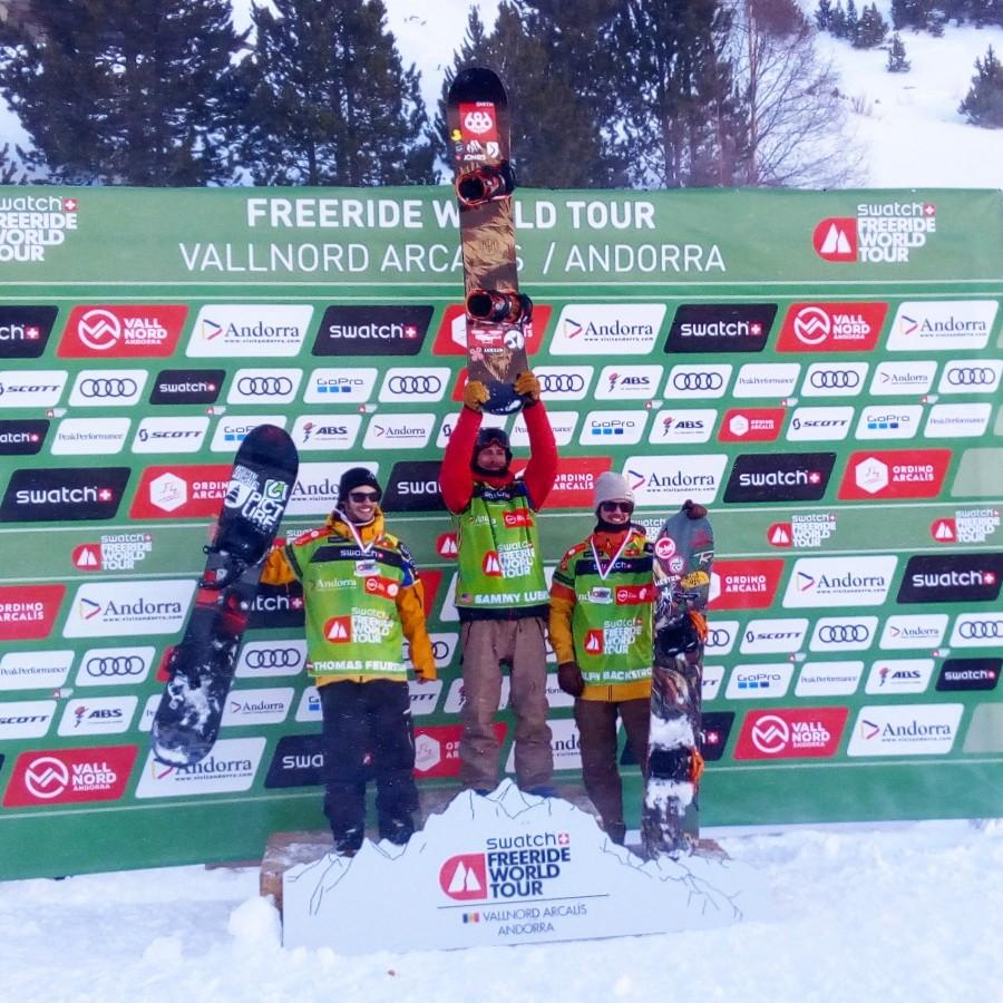 Winners of the men snowboard category