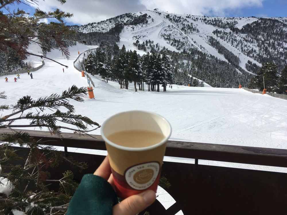 The best way to warm up ourselves: broth and mountain views