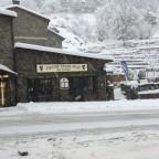The Derby Irish Pub under the snowfall