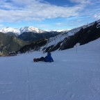 Rebecca having a break on the slopes of Arinsal