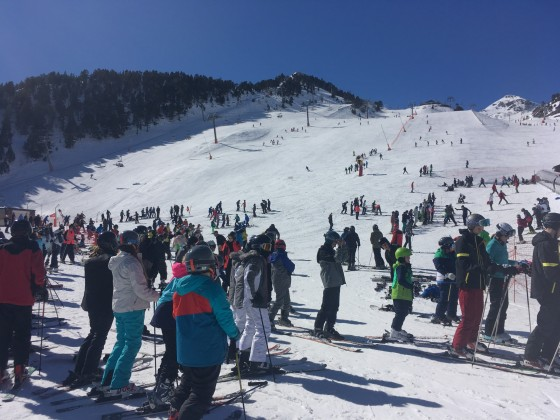 A lot of skiers came to Arinsal to spend the half term holidays on the snow