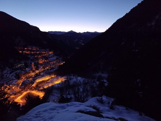 The sunrise in Arinsal