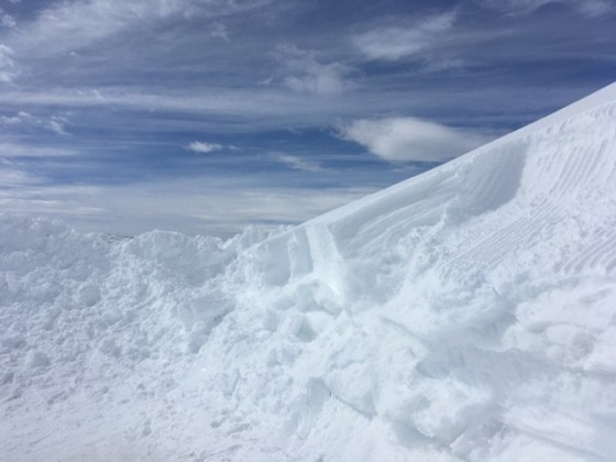 So much snow at the top of the Port Negre chairlift