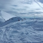 Off-piste on the way to La Capa with loads of powder