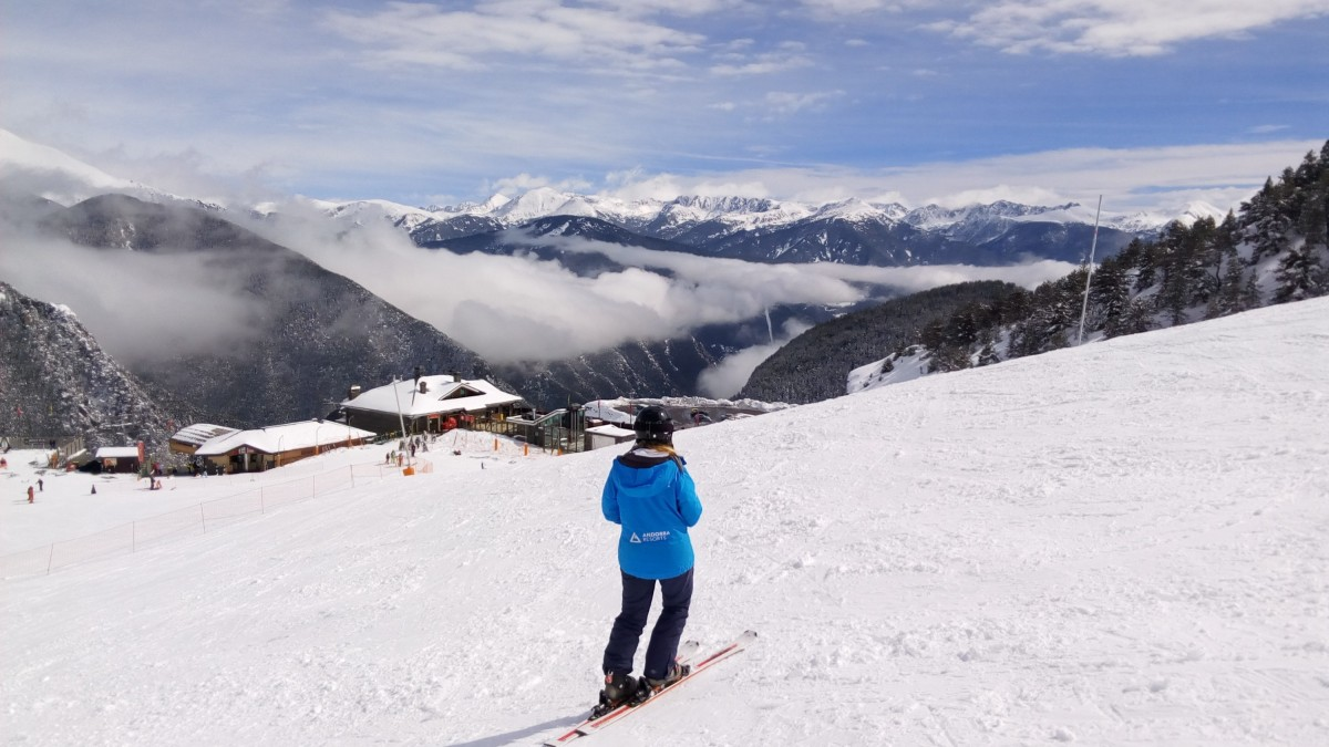 Stunning day, powder snow, we didn't want to miss it!