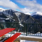 The view from Obelix terrace bar on the slopes of Arinsal