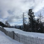 Snowy view at the top of Pal