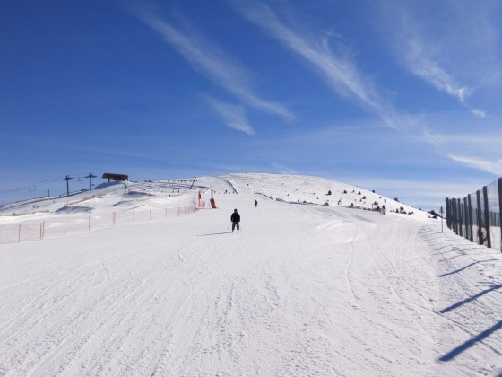 La Tossa blue run on a bluebird sky day