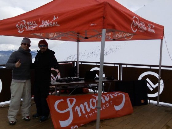 Flaix FM Djs playing for the Smoking Freestyle Contest