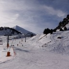 The beginner slope El Cortal in Arinsal