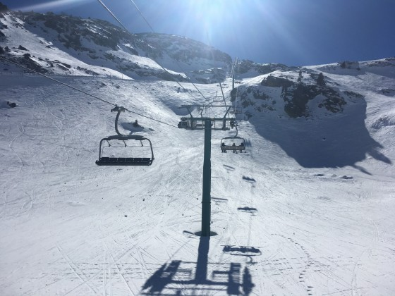 Heading up La Coma chairlift