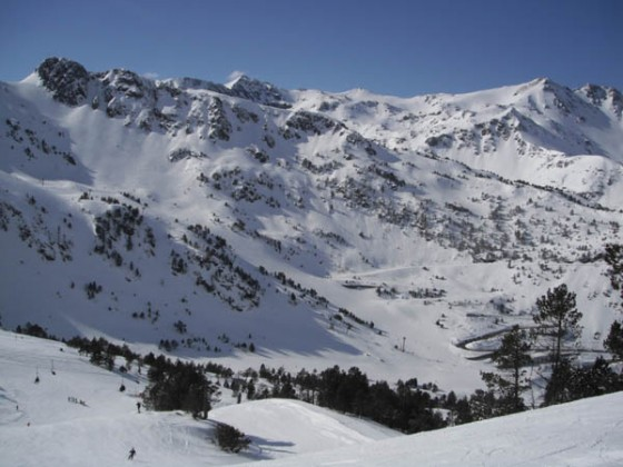 View from L'Hortell button lift 27/02