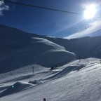 The snowpark in Arinsal was looking stunning