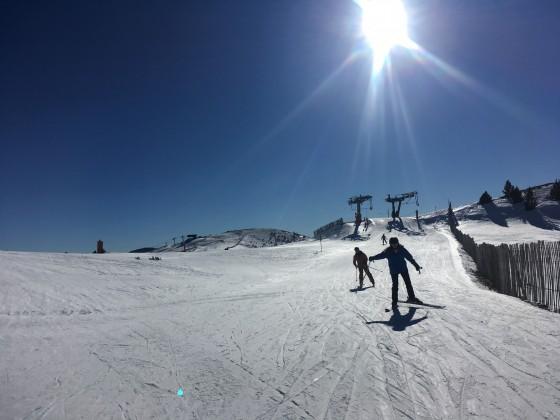 Skiing from La Tossa draglift