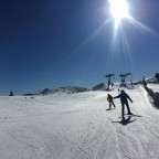Skiing from La Tossa draglift