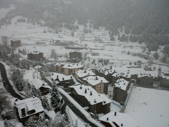 View of the village from the gondola - 22/03