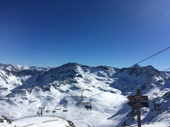 Stunning views of Creussans chairlift