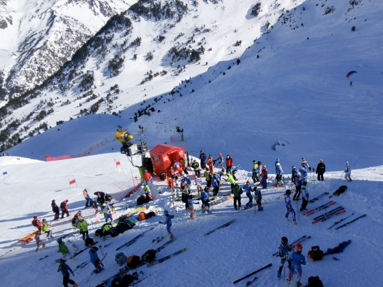 Start point of Super G Borrufa Trophy
