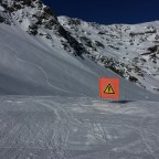 Always pay attention to the signs on the slopes