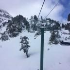 Heading up La Basera chairlift