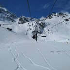Fresh tracks under La Basera chairlift