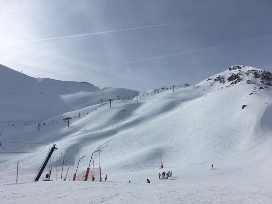 View of the Bony Vaques black run