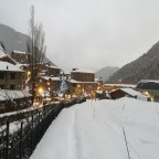 The village of Arinsal is full of snow