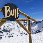 Some freeride areas are marked by this sign in Arcalis and have a map of the best off-piste lines