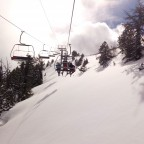 Tempting fresh snow under La Botella chairlift