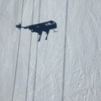 The shadow of our chairlift