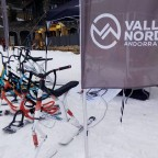 Ski bikes and snowscoots tester in Arcalis
