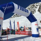 Finish line of the ISMF Font Blanca Vertical Race