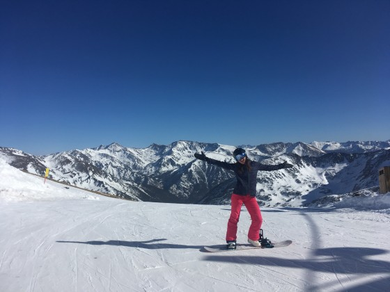 At the top of Creussans chairlift