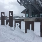 The sign of Pal under the Vallnord gondola