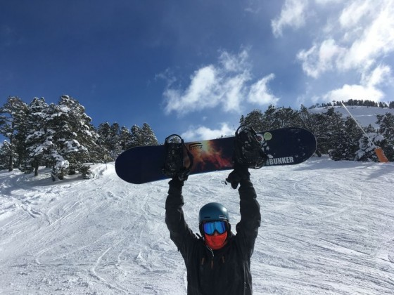 Perfect snow for snowboarding in Pal