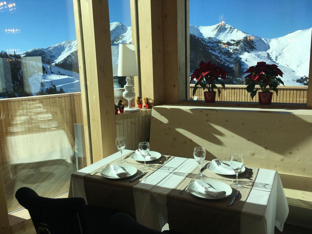 The views from the restaurant Coll de La Botella