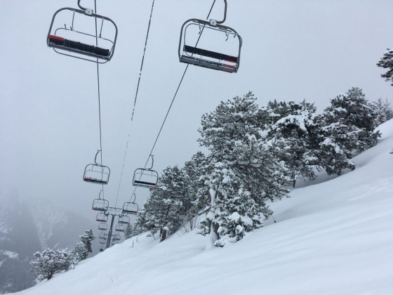 A beautiful view of La Tossa chairlift
