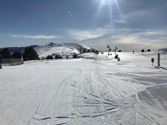 We love an empty slope day