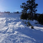 Powder snow in Fontanals red slope
