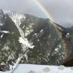 A rainbow on the mountains of Arinsal