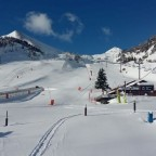 Fresh powder day and no one around - a perfect day for a ski!