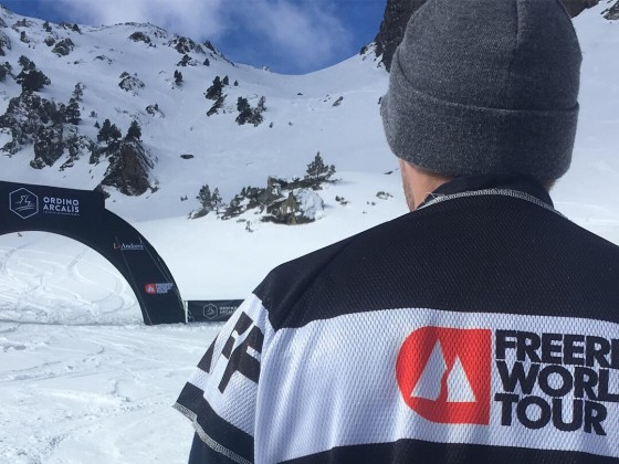The Freeride World Tour took place on Portelles area