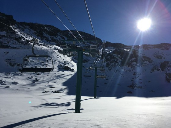 La Coma chairlift is the sunniest around Arcalís and offers a great view of the resort