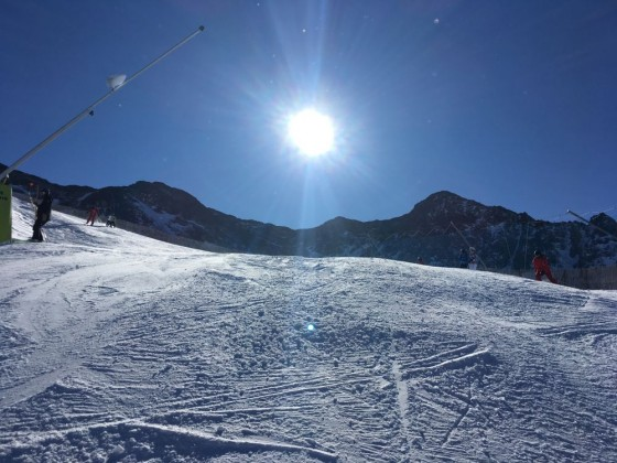 The sun has shone all around Vallnord in the last few days