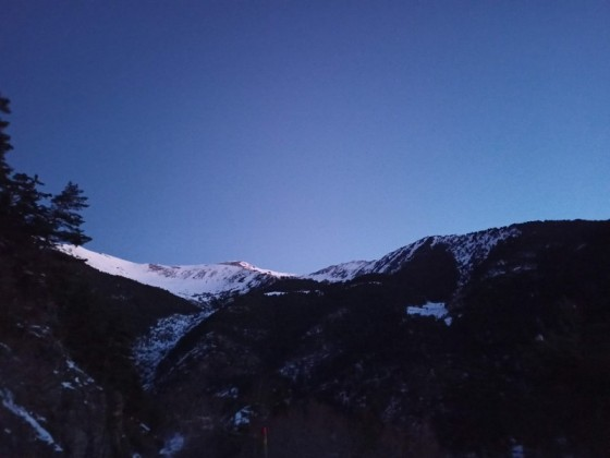 Sunrise lights in Arinsal