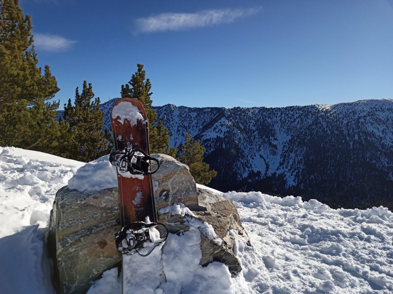 The perfect spot to have a break of snowboarding and enjoy the sun